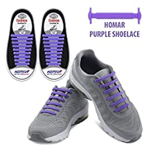 Homar No Tie Shoelaces for Kids and Adults - Best in Sports Fan Shoelaces – Waterproof Silicon Flat Elastic Athletic Running Shoe Laces with Multicolor for Sneaker Boots Board Shoes and Casual Shoes