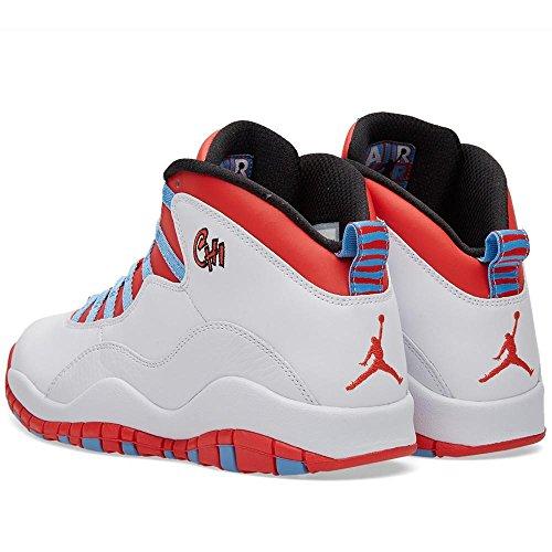 Nike Herren Air Jordan Retro 10 Basketballschuhe, Grau Blanco (bianco / Lt Crmsn-unvrsty Bl-blk)