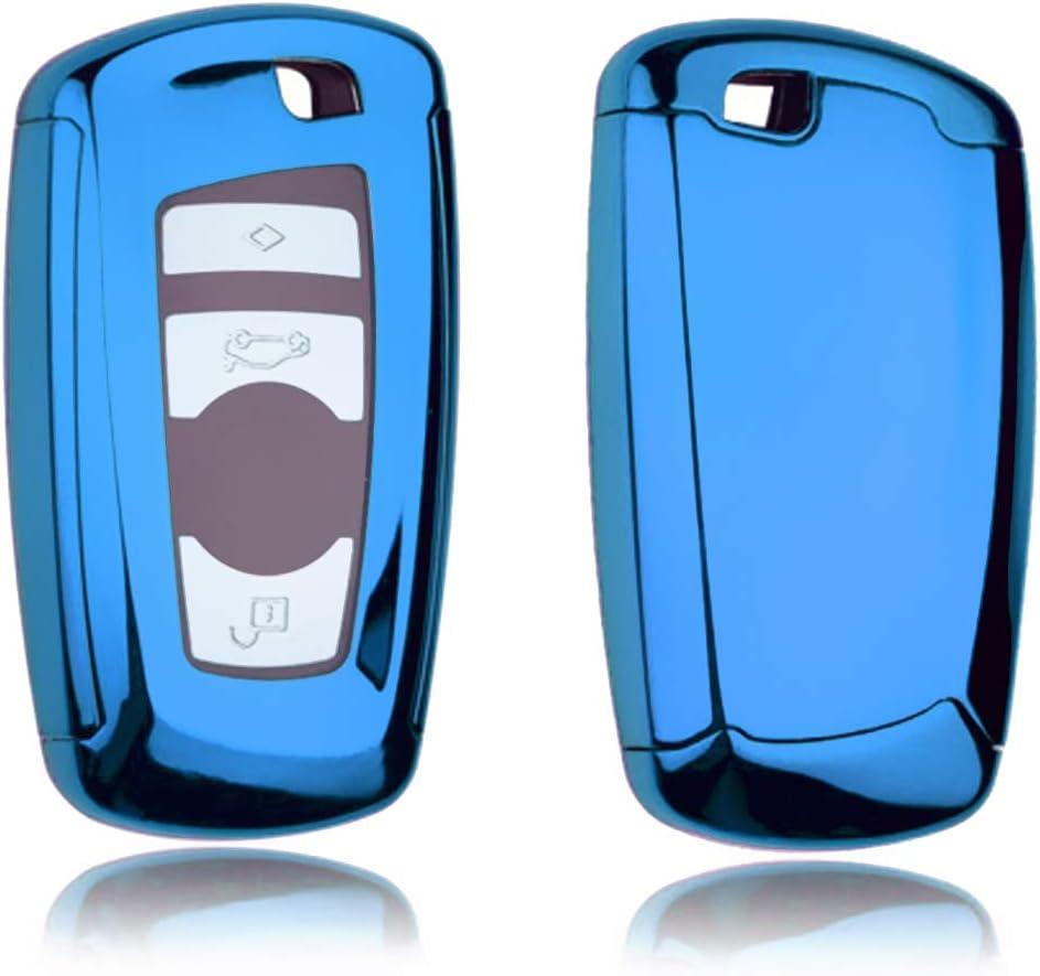 Blu Guscio Protettivo coprichiave in Morbido Silicone caucci/ù Custodia per Chiave BMW 1 2 3 4 5 6 7 Series X1 X3 X4 X5 X6 M2 M3 M4 M5 M6