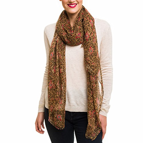 Scarf for Women Lightweight Animal Leopard Print Fashion Fall Winter Scarves Shawl Wraps (SS02) (Print Winter Wrap)