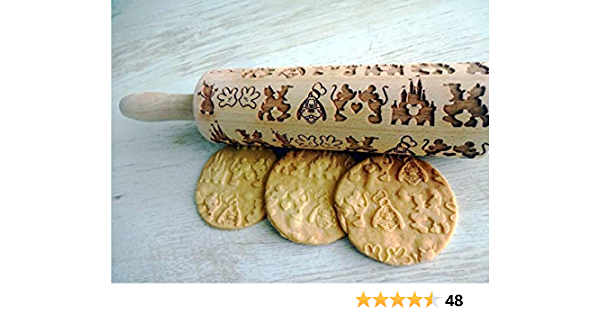 Roller with Your Pattern Embossing Rolling Pin Mexican Hairless Dog Small Rolling  Pin for Cookies with Dog/'s Body Engraved Rolling-pin