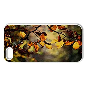 Parched Leaves, Close Up Watercolor style Cover iPhone 5 and 5S Case (Autumn Watercolor style Cover iPhone 5 and 5S Case)