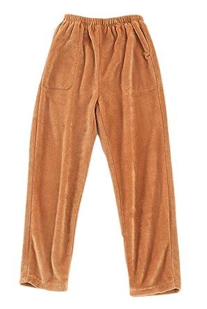 H&E - Pantalones de chándal para Hombre, Cintura elástica, Franela ...
