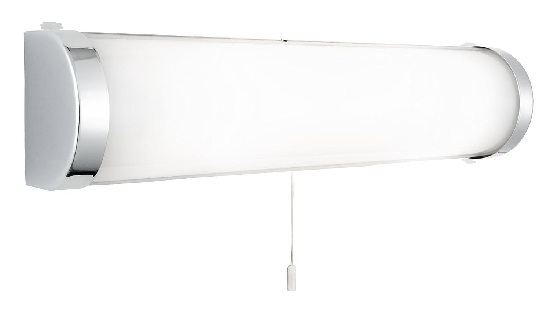 2-Light Chrome Finish Oblong Bathroom Wall Light, 8293CC Search Light Searchlight
