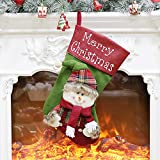 Paymenow Christmas Socks Small Candy Bag Gift Bags Santa Claus Snowman Reindeer Socks Christmas Decor (C)