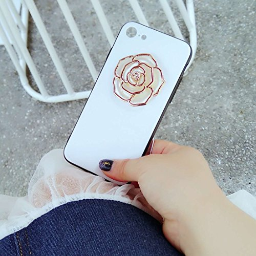 Hülle für iPhone 7 ,Schutzhülle Für iPhone 7 Rose Pattern Shockproof schützende rückseitige Abdeckungs-Fall ,cover für apple iPhone 7,case for iphone 7 ( Color : Gold )