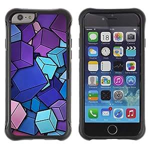 Be-Star único patrón Impacto Shock - Absorción y Anti-Arañazos Funda Carcasa Case Bumper Para Apple iPhone 6(4.7 inches) ( Colorful Cubes )