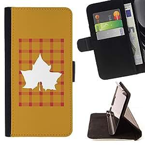 ForSamsung Galaxy S3 MINI i8190 (NOT S3) Case , Arce de oro de Brown Plaid- la tarjeta de Crédito Slots PU Funda de cuero Monedero caso cubierta de piel