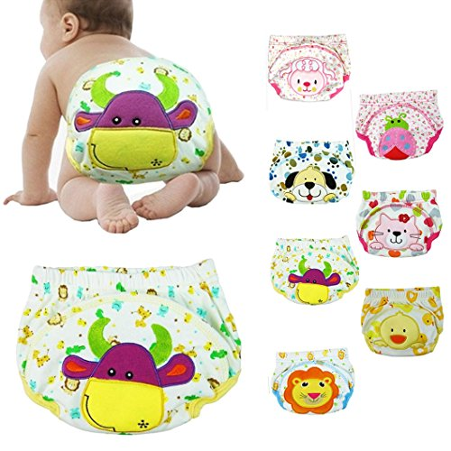 dzt1968 1pc Top Seller New Baby Infant Printed Cloth Diapers Reusable Nappy Washable Snap Nappy (80, G)