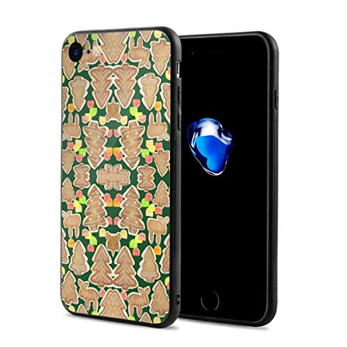 iPhone 8 Case iPhone 7 Case with Gingerbread Trees Moose and Gumdrops Fabric Print