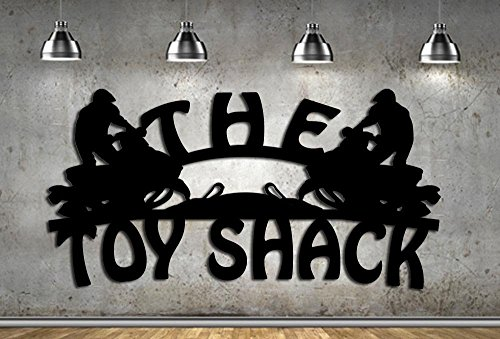 - The Toy Shack - 2 Snowmobiles - Metal Sign Made In USA