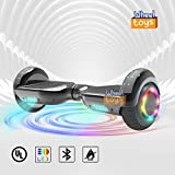 Hoverboard Flash Wheel Two-Wheel Self Balancing Electric Scooter with Bluetooth Speaker 6.5' UL 2272 Certified