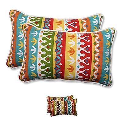 Pillow Perfect Outdoor/Indoor Cotrell Rectangular Throw Pillow (Set of 2) - Pillow Shape: Rectangle Type: Outdoor Pillows Material: Polyester - patio, outdoor-throw-pillows, outdoor-decor - 51dxBnW9QvL. SS400  -