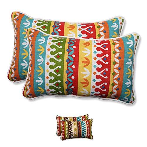 51dxBnW9QvL - Pillow Perfect Outdoor/ Indoor Cotrell Rectangular Throw Pillow (Set of 2)