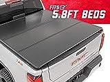 Rough Country Hard Tri-Fold (fits) 2014-2018 Chevy Silverado GMC Sierra | 5.8 FT Bed | Truck Tonneau Cover | 45214550