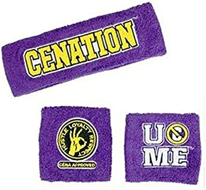 Nice Special offer WWE John Cena Sweatbands strong Wristbands 3 Piece Set WWE