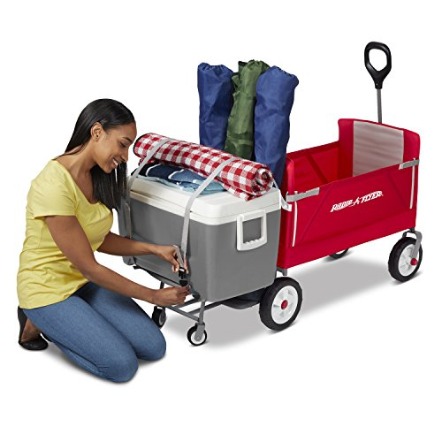 Radio Flyer 3-In-1 Tailgater Wagon, Red (Amazon Exclusive)