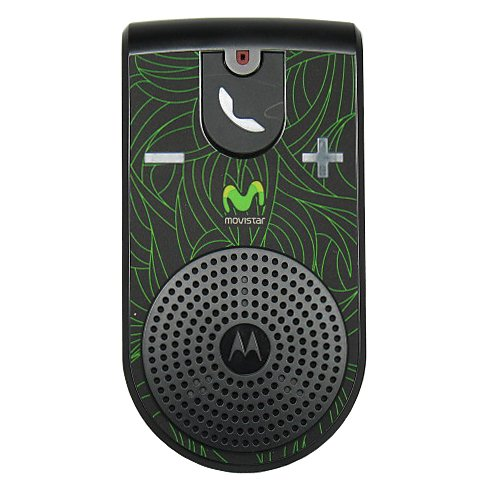 Black//Green Motorola T307 Movistar Bluetooth v2.0 Handsfree Speakerphone