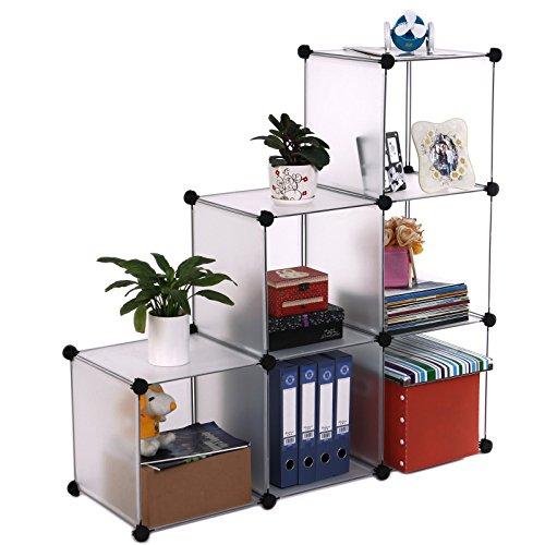 songmics diy regalsystem raumteiler stufenregal standregal badregal regal kleiderschrank. Black Bedroom Furniture Sets. Home Design Ideas