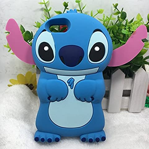 Stingna 3D Cartoon Stitch Lilo Soft silicone Phone Cases Cover For Apple iPhone 4/ 4S (4S) (Stitch Cell Phone Case)