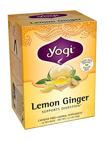 Yogi Tea Lemon Ginger, 16 sachets de thé (pack de 6)