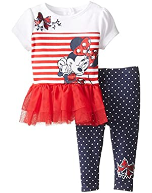 Baby Girls' Minnie Mouse 2 Piece Legging Set