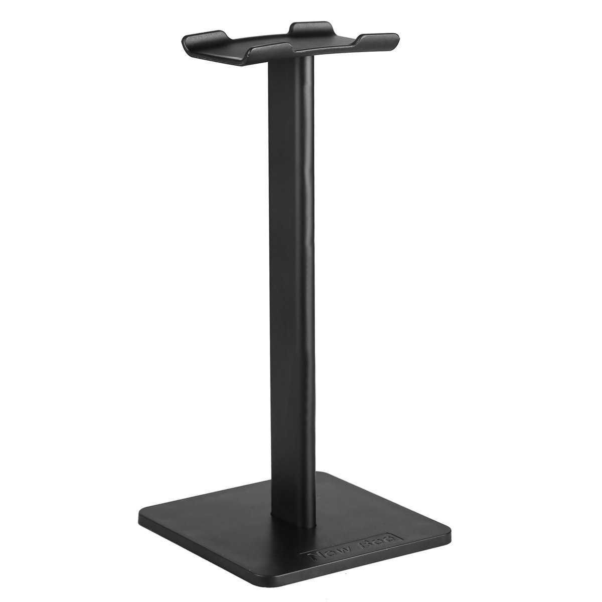 YaPeach Headphone Stand, NewBee Universal Aluminum Earphone Holder, TPU Rubber Headrest, ABS Alloy Pole Base, 3 Parts Assembly Headset Showing Display Hanger for Home Office Most Sizes Unit (Black)