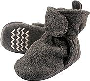 Hudson baby baby-boys Cozy Fleece Booties With Non Skid Bottom Slipper Sock