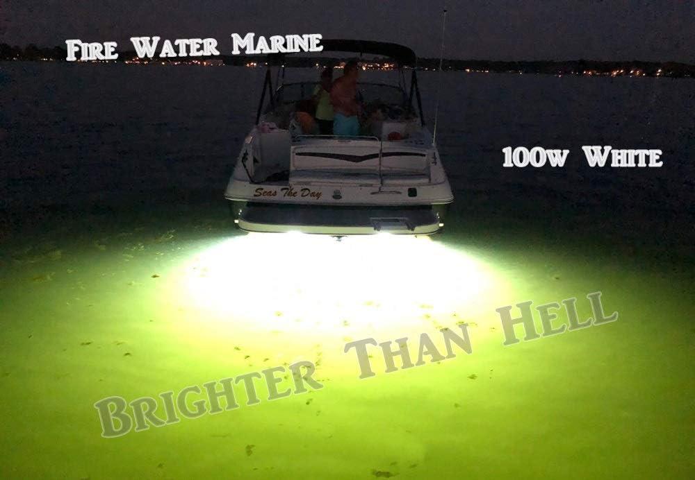 Blue, White OR Green Garboard LED Boat Drain Plug Light Marine 3//4 1//2 NPT Firewatermarine 50W 4000 Lumen