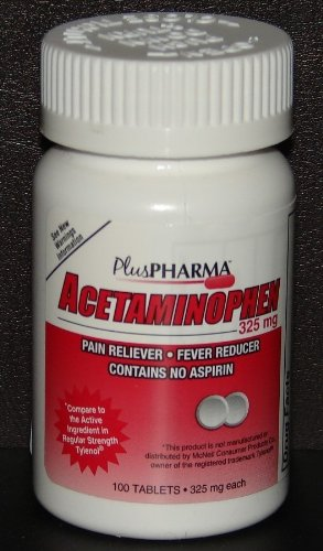 (PlusPharma Acetaminophen 325mg 100ct Tablets *Compare to Tylenol*)