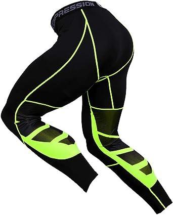 FELICON Pantaloni da Ginnastica da Uomo Sportivo di Uomo da Uomo a Compressione Indossar