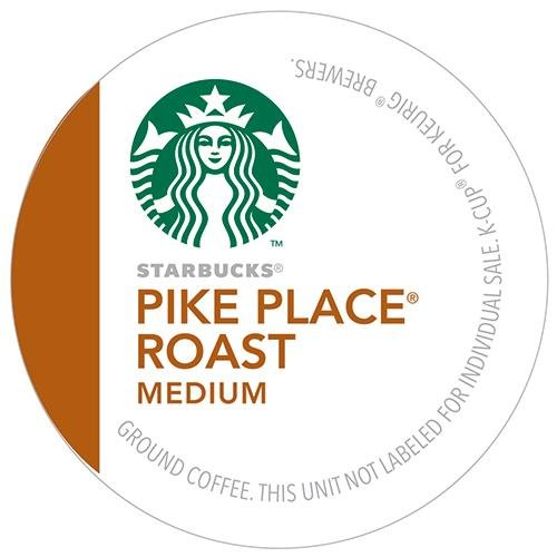 Starbucks Pike Place Roast Coffee K-Cups by Starbucks
