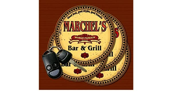 Amazon com   MARCHEL'S World Famous Bar & Grill Coasters