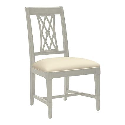 Amazon Com Ethan Allen Aviana Side Chair Ascot Cayman Cream Chairs