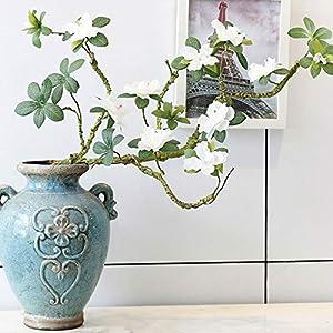 ShineBear Artificial Flowers Branch Fake Flower Azaleas Foaming Rattan Silk Flower Orchid for Wedding Home Table Decoration 90cm 48