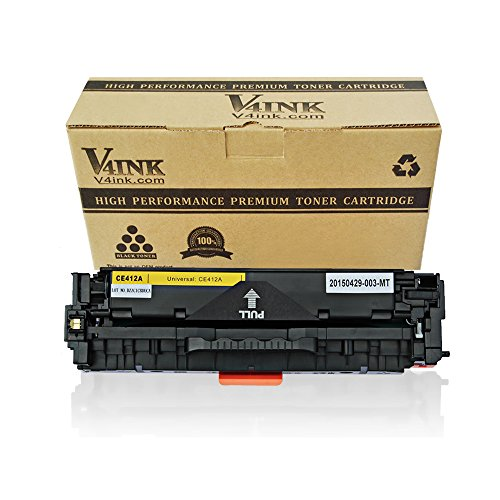 V4INK 1 Pack New Replacement for 305A CE412A Yellow Toner Cartridge for use with HP LaserJet Pro 300 Color MFP M375nw HP LaserJet Pro 400 Color M451dn M451dw MFP M451nw MFP M475dn MFP M475dw Printer