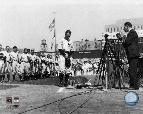 Baseball Player Lou Gehrig Farewell Speech 8x10 Silver Halide Photo Print by The McMahan Photo Art Gallery & Archive (The Best Farewell Speech)
