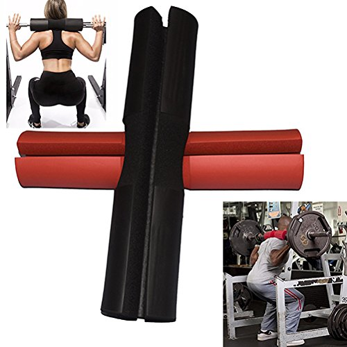 E2shop Smart Barbell Bar Neck Shoulder Squat Bar Pad Hip Thrusts – Neck Shoulder Protective Pad and Sponge Supports Weightlifting Squat Protective Cover Stabilizer Pad