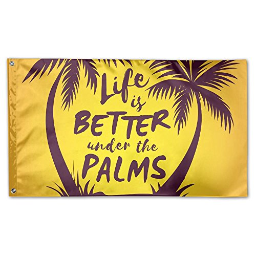BINGOGO FLAG Decorative House Flags - Summer Quote Palm Tree