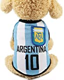OMELET Dog World Cup Soccer Basketball Vest, Argentina Pets Football Summer Cool Clothes Apparel (6XL)
