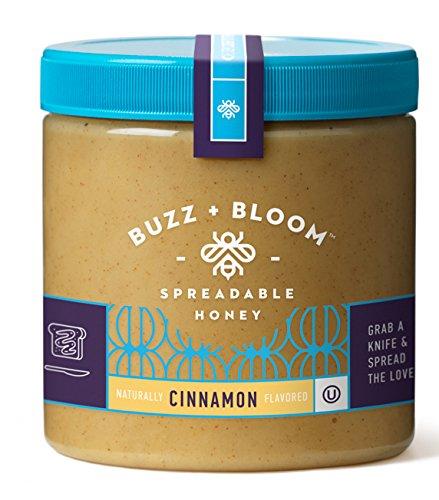 Buzz and Bloom Honey Creamy Spread, Cinnamon, 12 Ounce