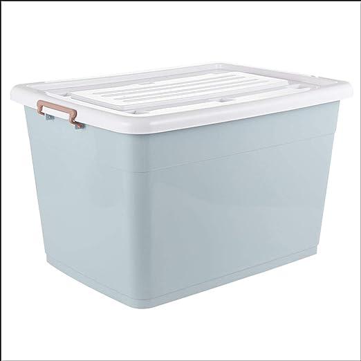Shhaljj Plástico Grande con Caja de Almacenamiento de la Tapa Dormitorio Moderno Simple de la Sala de Almacenamiento de la Caja de Almacenamiento (Color : Azul, Tamaño : 170L): Amazon.es: Hogar