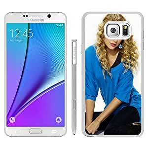 Unique Samsung Galaxy Note 5 Case ,Fashionable And Durable Designed Case With Taylor Swift Blonde Hair Style Singer Actress White Samsung Galaxy Note 5 Phone Case