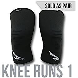 2nd Era Knee Runs 1 - Best Compression Knee Support Sleeves Brace Wraps - For Professional Elite Athletes: Running, Jogging, Bodybuilding, and Weight Lifting - Sold as Pair (Black, Large)