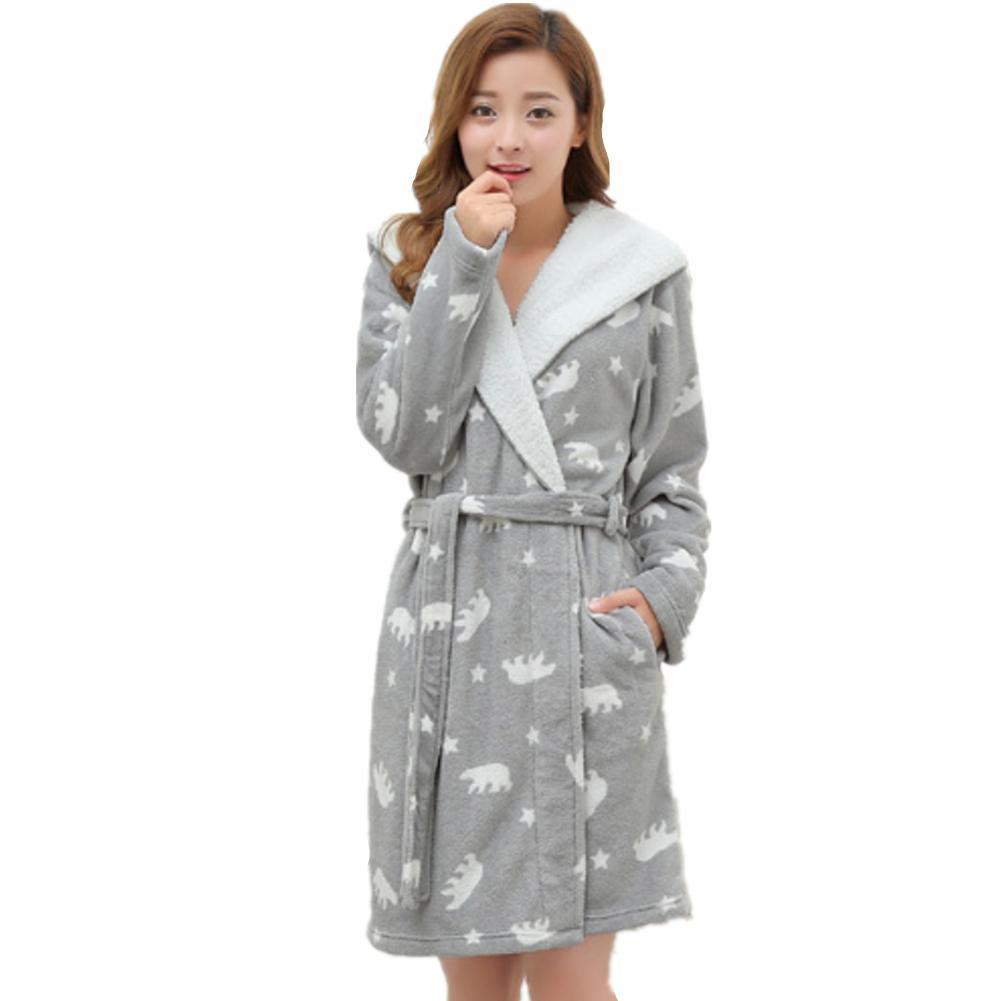 DMMSS Las se?oras pijama Coral polar con capucha acolchada Plus Size camisš®n franela batas de ba?o , 1 , l: Amazon.es: Deportes y aire libre