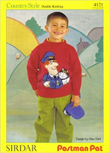 Sirdar postman pat designed by alan dart childrens postman pat sirdar postman pat designed by alan dart childrens postman pat and jess motif sweater knitting pattern for age 3 4 years 5 6 years 7 8 years to fit dt1010fo