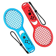 Tennis Racket for Nintendo Switch - Younik Tennis Racket for Nintendo Switch Joy-Con Better Fit Mario Tennis Aces Game (2 Packs)
