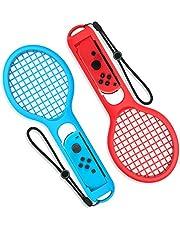 Nintendo Switch Joy Con Tennis Racket - Younik Tennisschläger für Nintendo Switch Joy-Con Optimal für Somatosensorik-Spiele Mario Tennis Aces (2-er Packung)