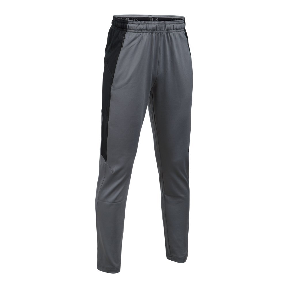 Under Armour Boys' Y Knit Pants,Graphite /Overcast Gray, Youth X-Large