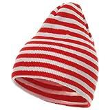 Trendy Striped Beanie - Red White OSFM